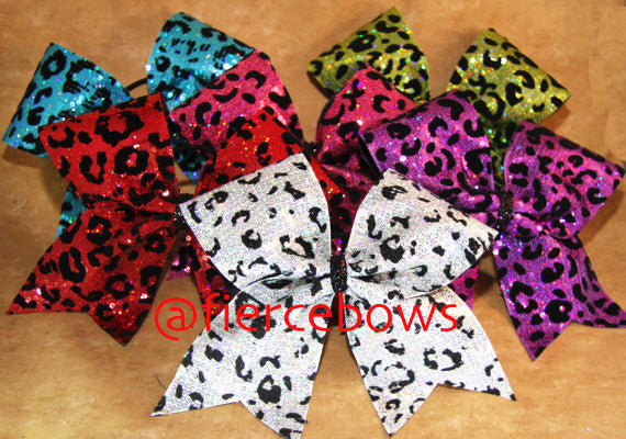 Cheetah Sequin Tick Tock Bow