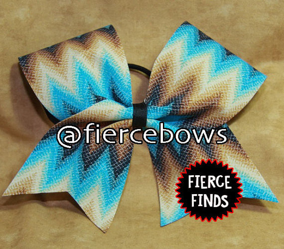 Chevron in Blue and Brown
