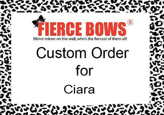 Custom Order for Ciara