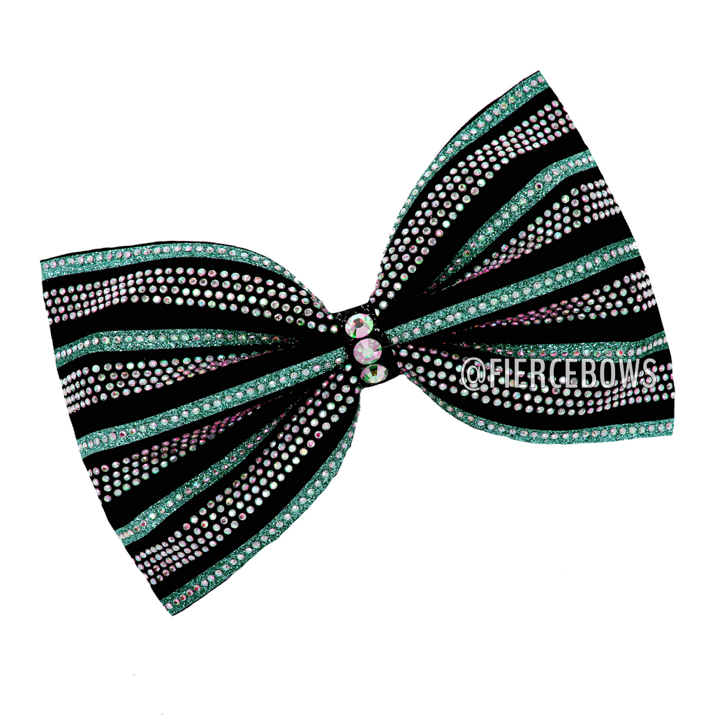 City Girl  Two Color Rhinestone Tailless Bow (Choose Your Combination)