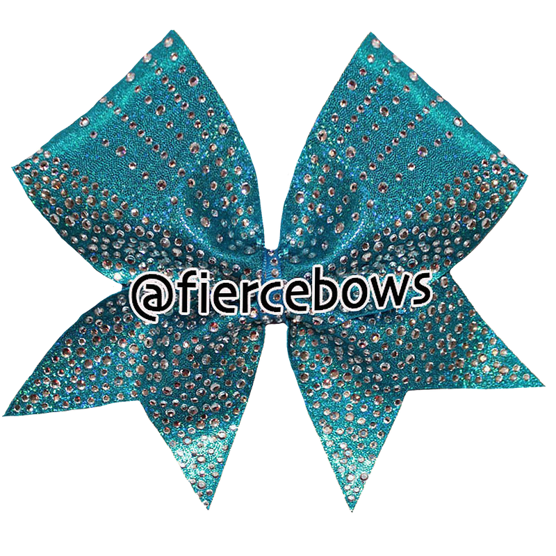 Cold Shoulder Rhinestone Cheer Bow