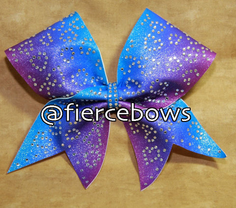 Cotton Candy Skies Rhinestone Ombre Bow