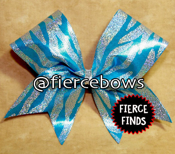 Faux Sequin Zebra Bow