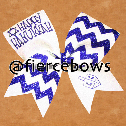 Happy Hanukkah Cheer Bow