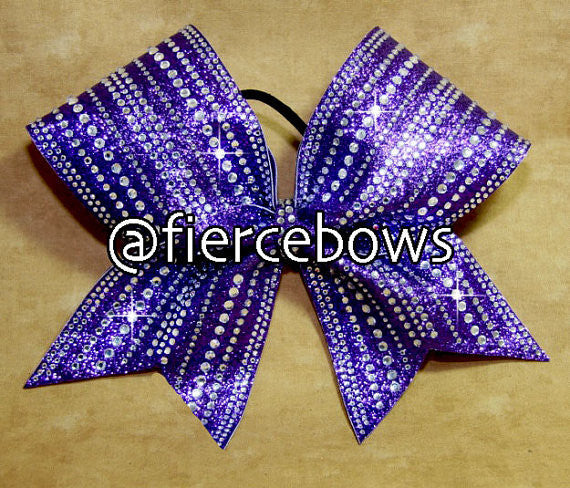 Purple Heaven Rhinestone and Glitter Bow