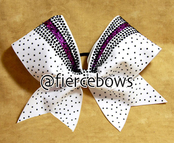Lisa Rhinestone and Glitter Cheer Bow