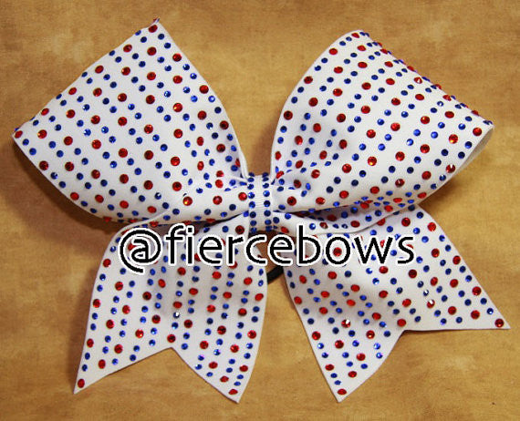 Dreaming in Red, White and Blue Rhinestone Bow