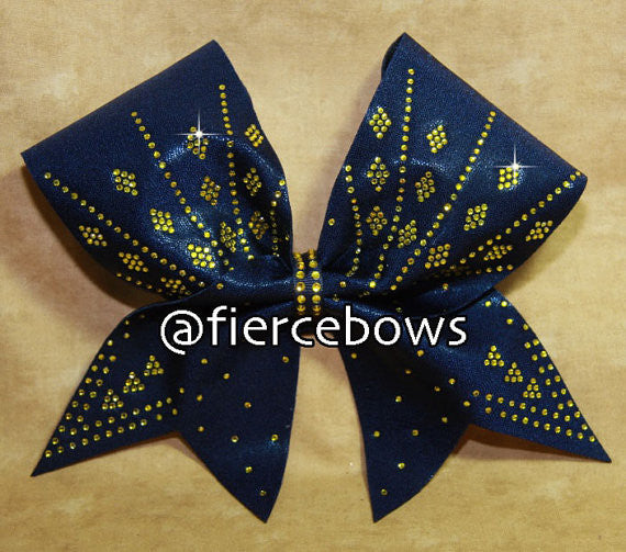 Diamonds Are A Girl's Best Friend Cheer Bow