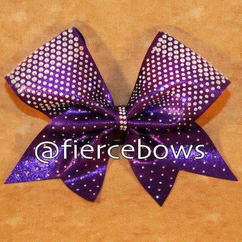 Punch Front Rhinestone Cheer Bow