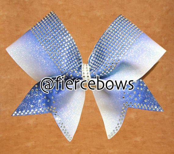 Banded Ombre Rhinestone Bow