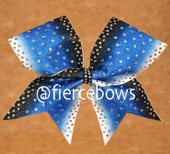 Blue Moon Rhinestone Bow