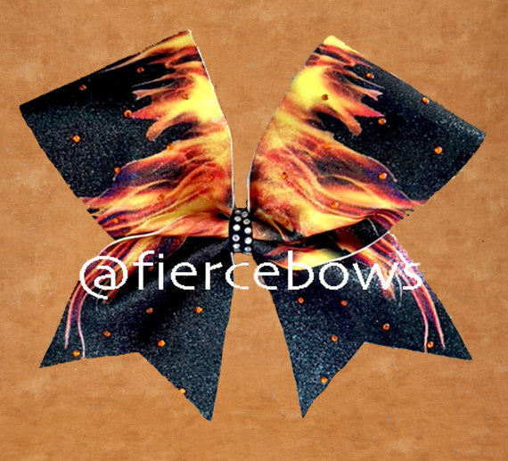 This Girl is on FIRE Rhinestone Bow