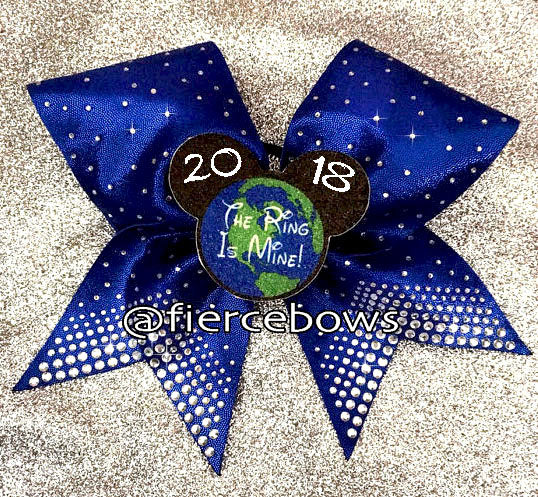 Rhinestone and 3D Graphic Event Bow