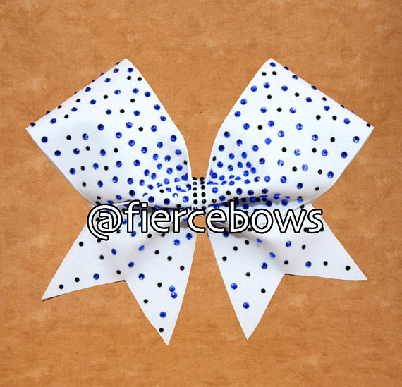 Dream On Two Color Rhinestone Bow