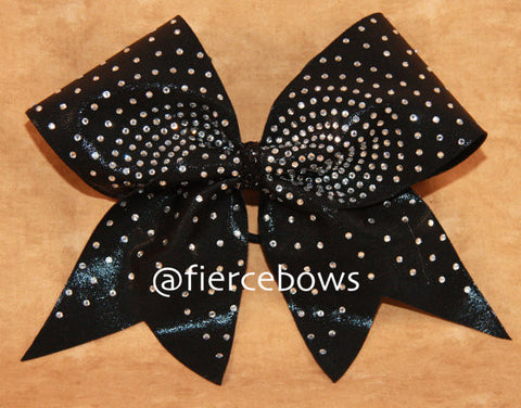 Starburst Rhinestones on Black