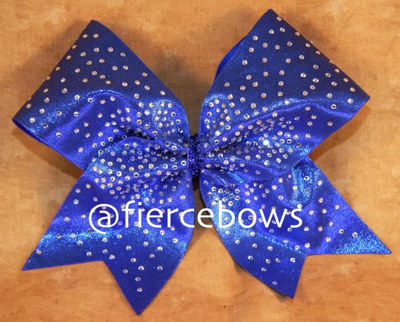 Smack In the Middle Rhinestone Cheer Bow