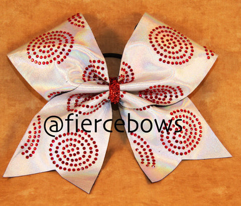 Ruby Circles Rhinestone Cheer Bow