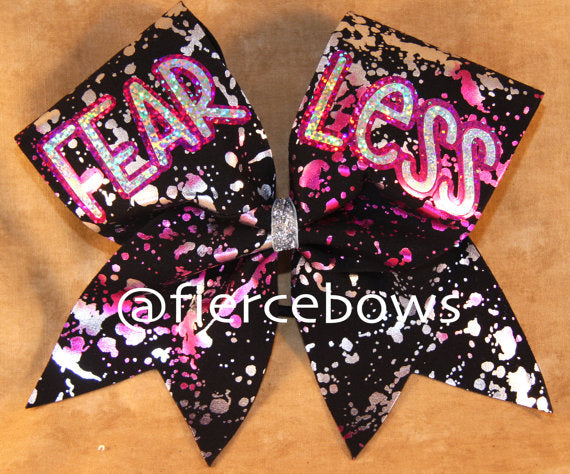 FEAR LESS Cheer Bow