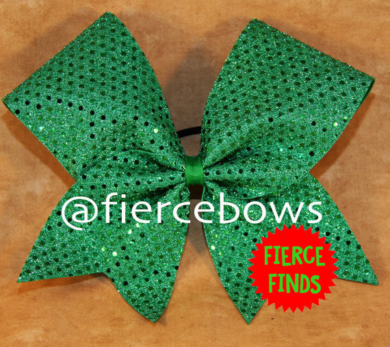 Kelly Confetti Dot Cheer Bow