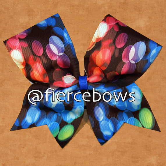 Rainbow Bubbles Sublimated Bow