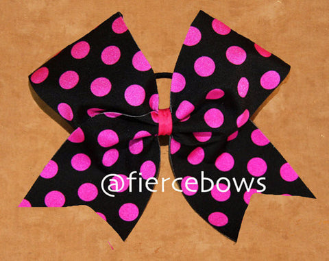 Polka Dot in Hot Pink and Black