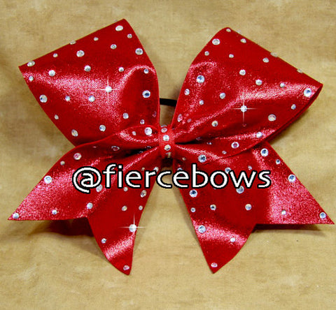My Red (or choose your color) Rhinestone Bow