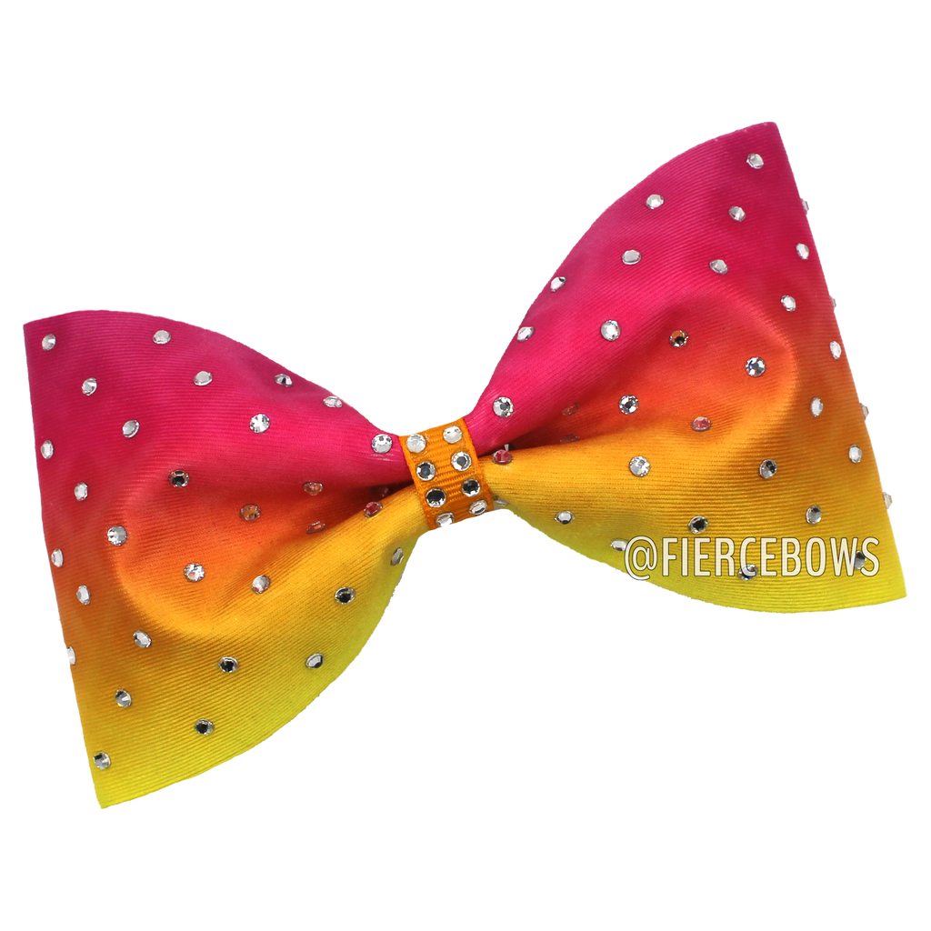 Morning Sun Tailless Rhinestone Bow