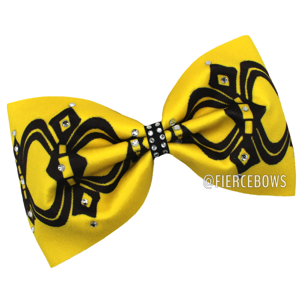 Fanciful Rhinestone Tailless Bow