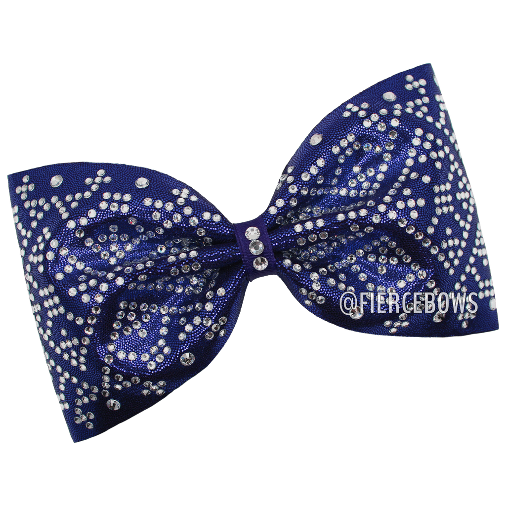 Take a Number Tailless Rhinestone Bow