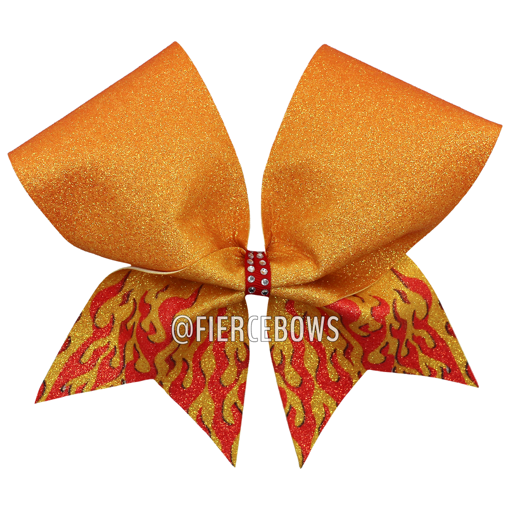 Fire Fly Glitter Bow