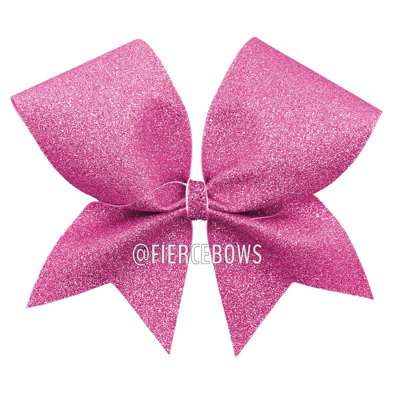 Curls and Swirls Glitter Cheer Bow