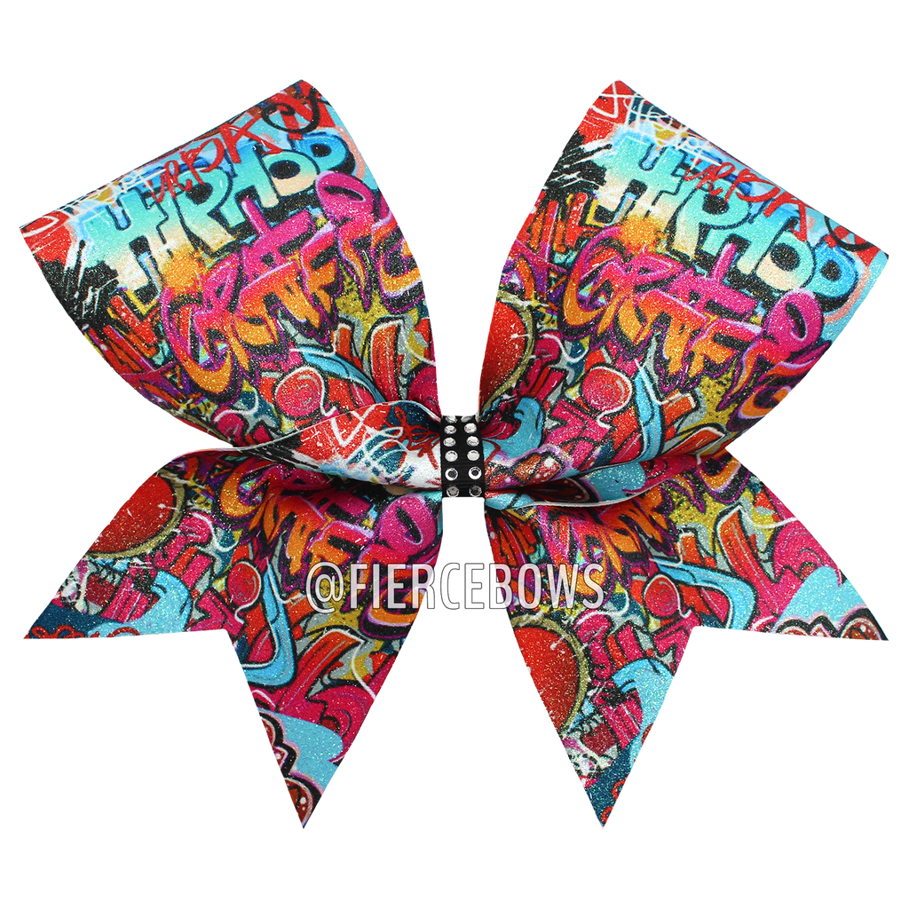 Splatter Hip Hop Graffiti Bow
