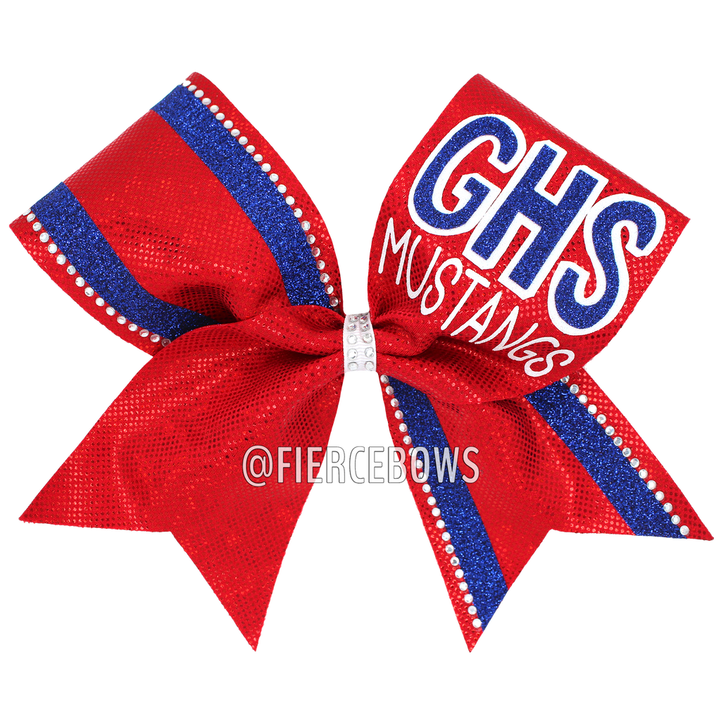 Show Your Pride Rhinestone Cheer Bow