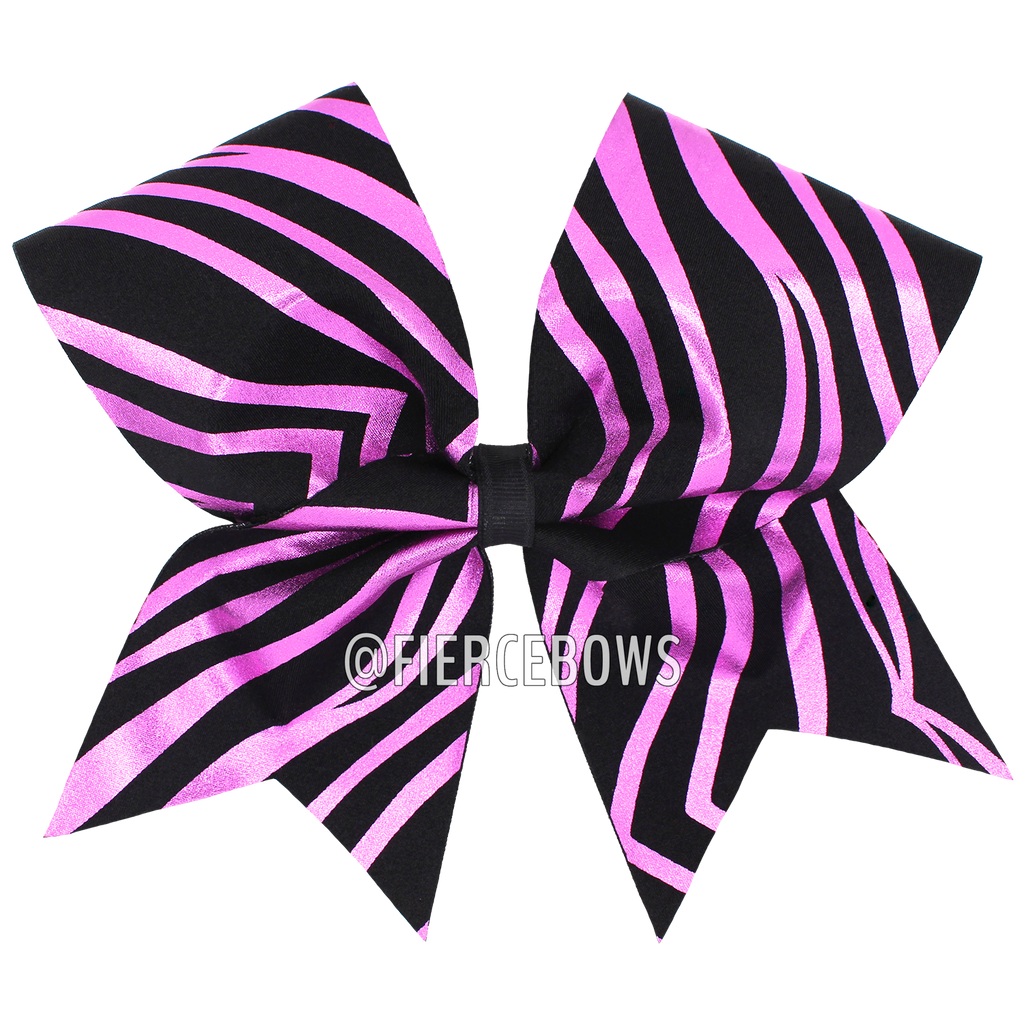 Metallic Zebra Bow