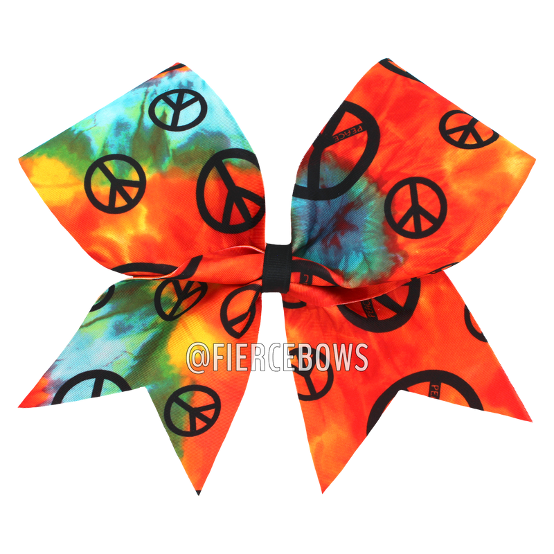 Orange Peace Out Bow