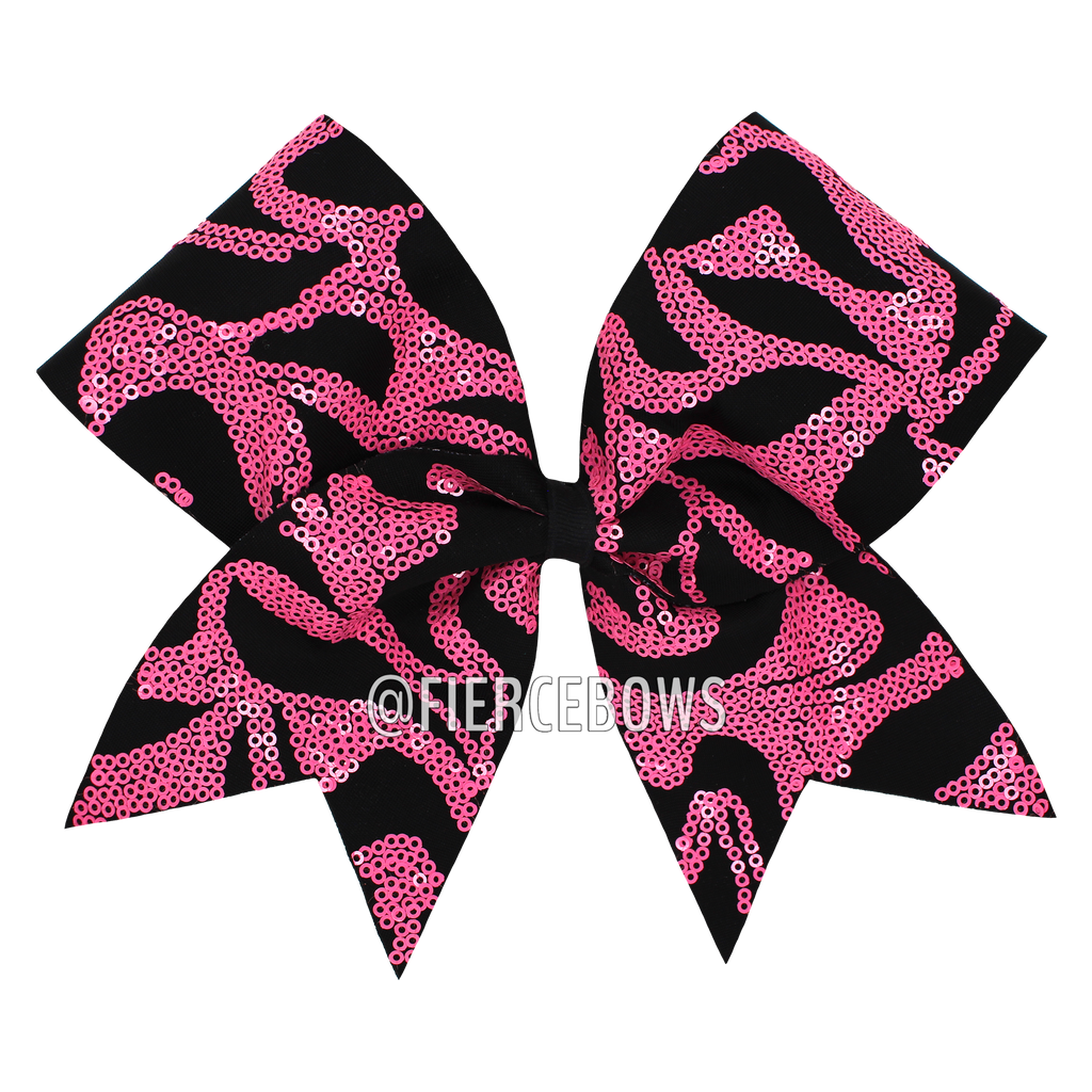 Swirl Sequin in Pink and Black