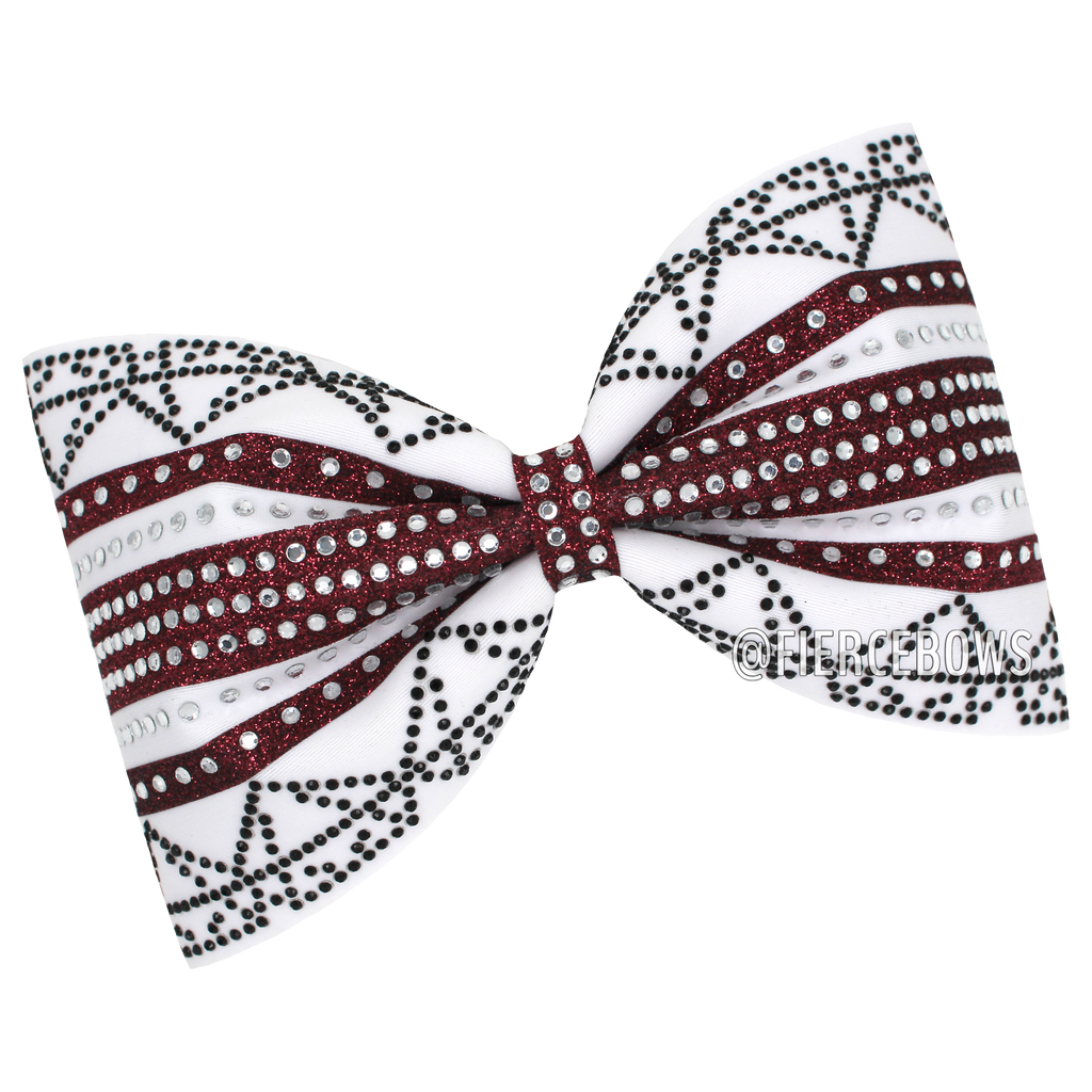 Double Diamond Rhinestone Tailless Bow