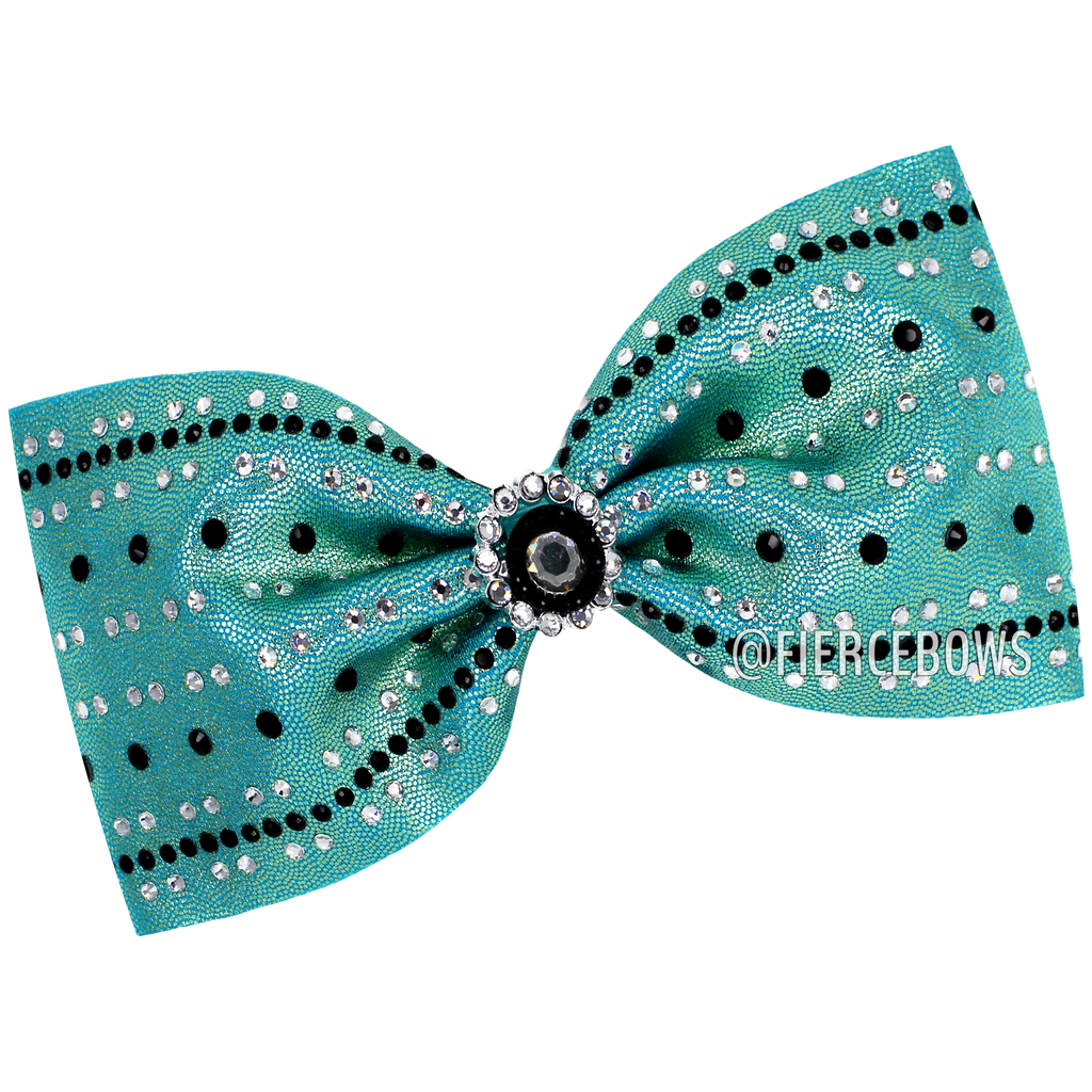 Elsa Two Color Tailless Rhinestone Bow