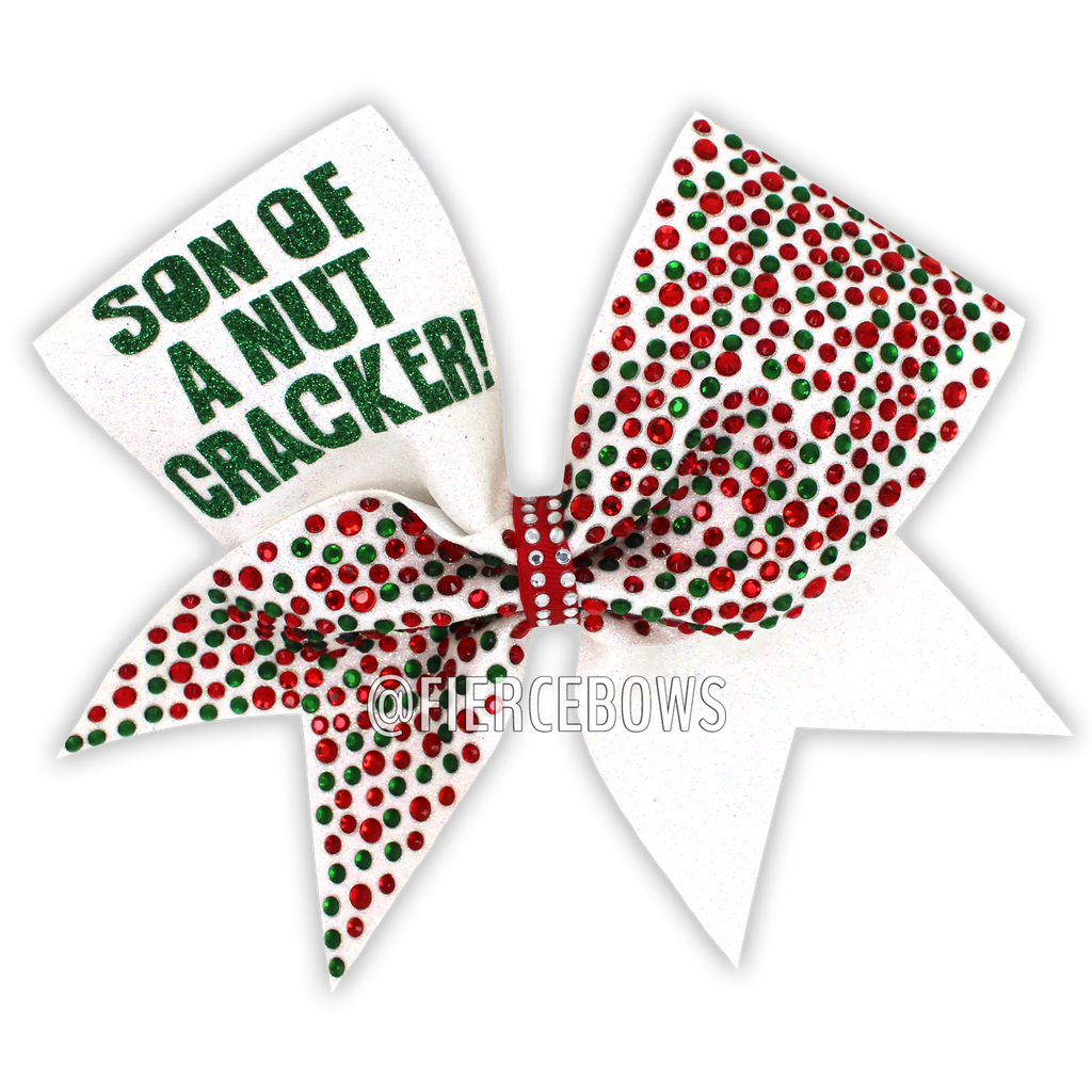 Son of a Nutcracker Rhinestone Bow