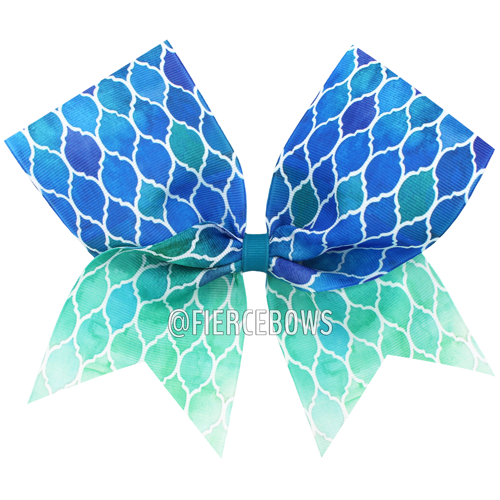 Mosaic Ombre Sublimated Cheer Bow