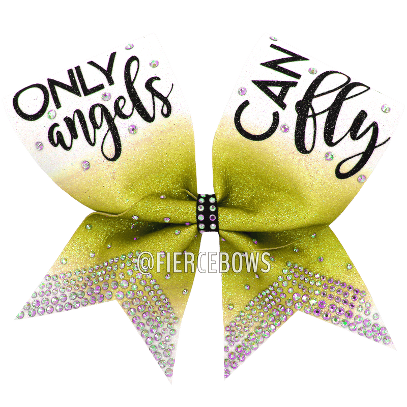 Only Angels Can Fly Ombre Bow