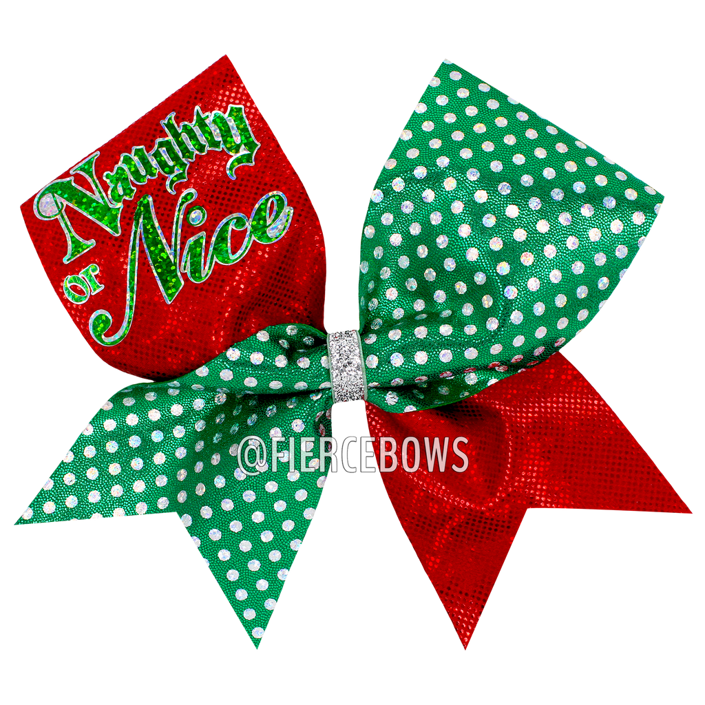 Naughty or Nice Christmas Bow