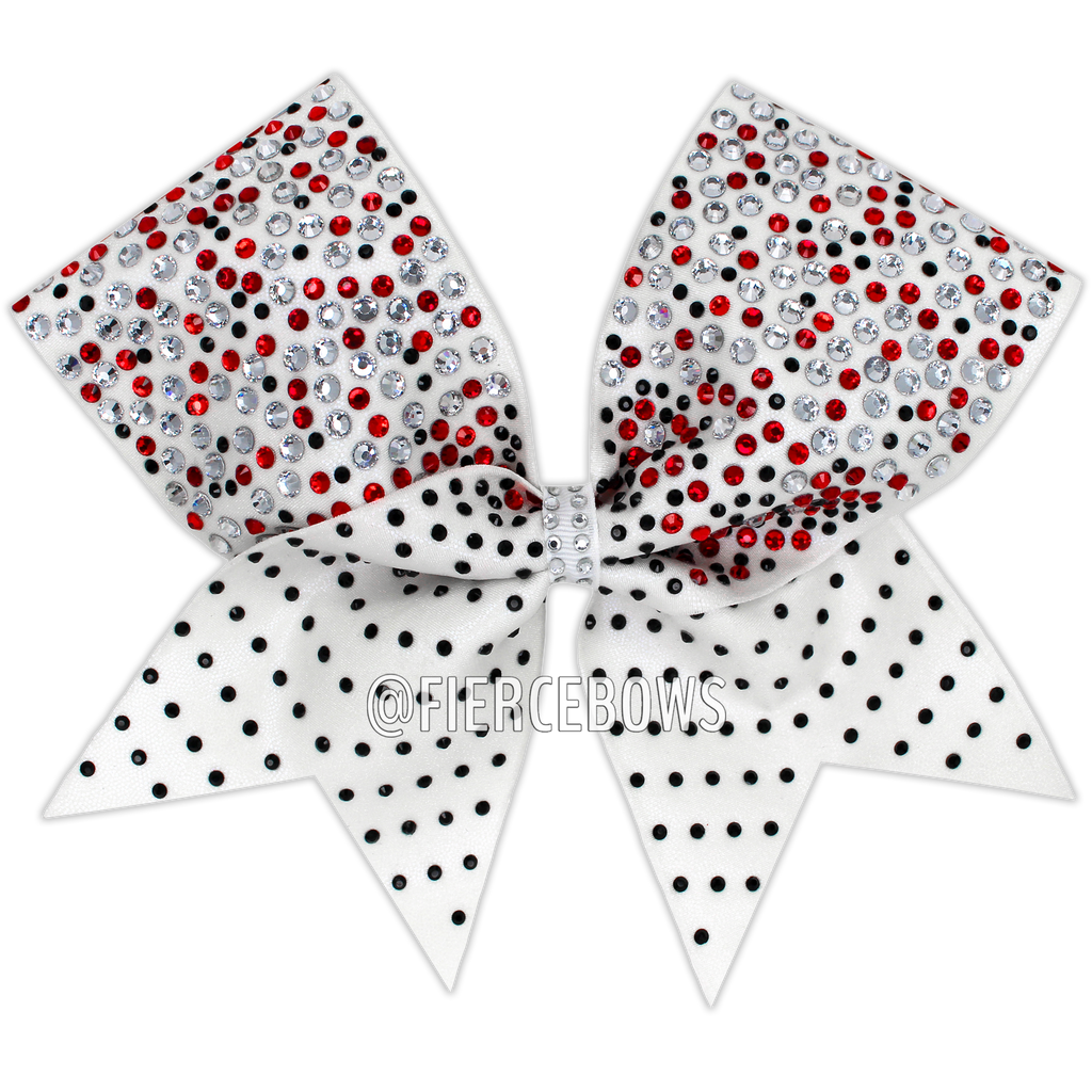 Sugar On Top Three Color Rhinestone Bow