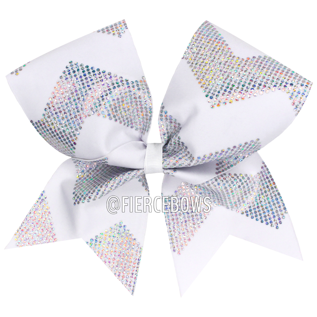 White Chevron Bow