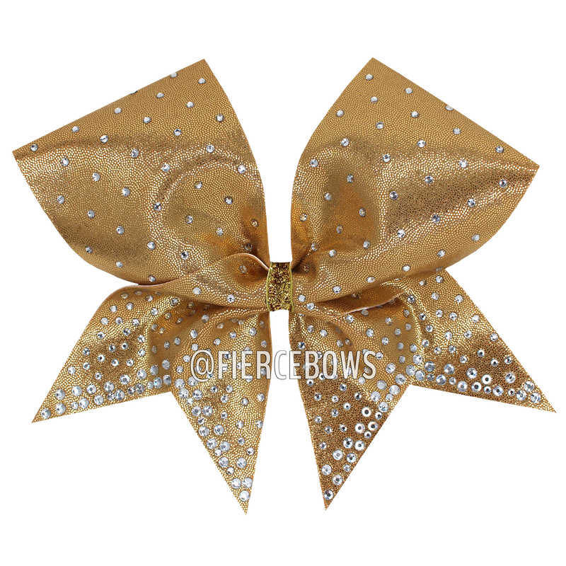 Gold and Black Holographic Zebra Cheer Bow