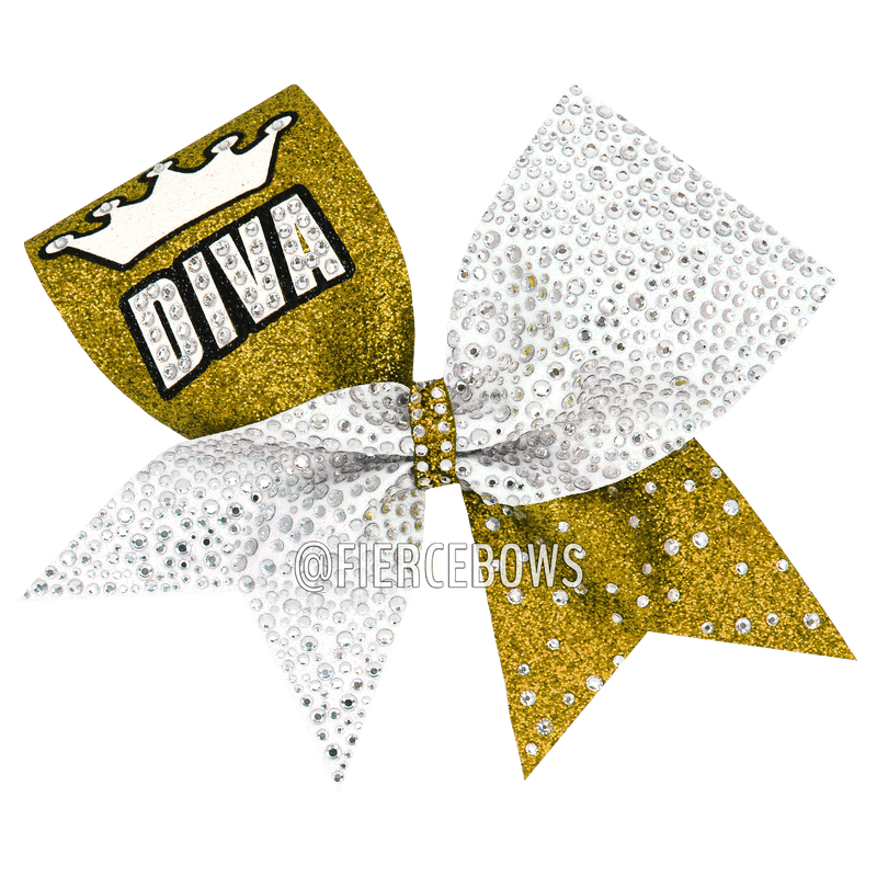 DIVA Glitter and Rhinestone Bow