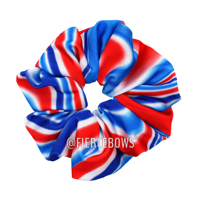 Patriotic Swirl Hair Scrunchie