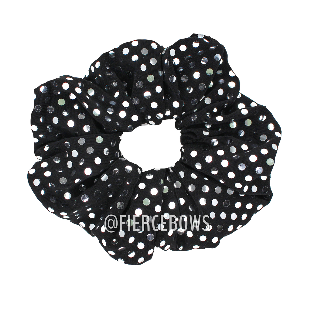 Metallic Polka Dot Hair Scrunchie