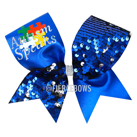 Teal and Silver Tick Tock Bow
