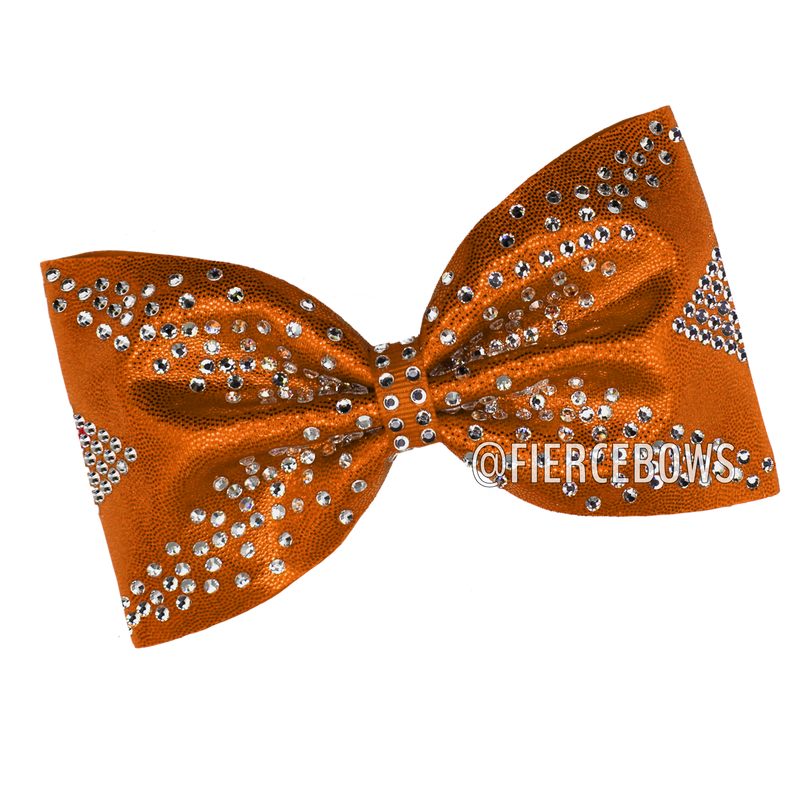 Fingers Crossed Rhinestone Tailless Bow